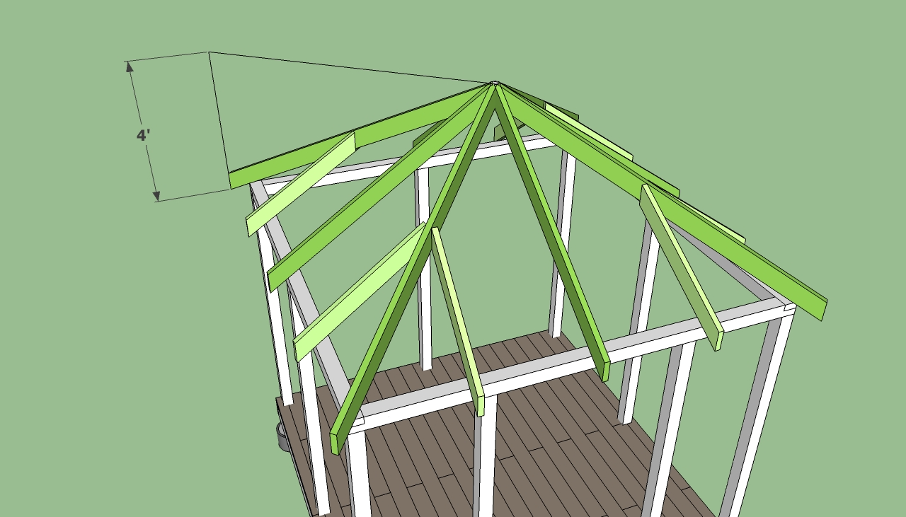 Square gazebo plans free diy free plans coop shed for Building a shed style roof