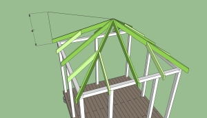 How to build a square gazebo