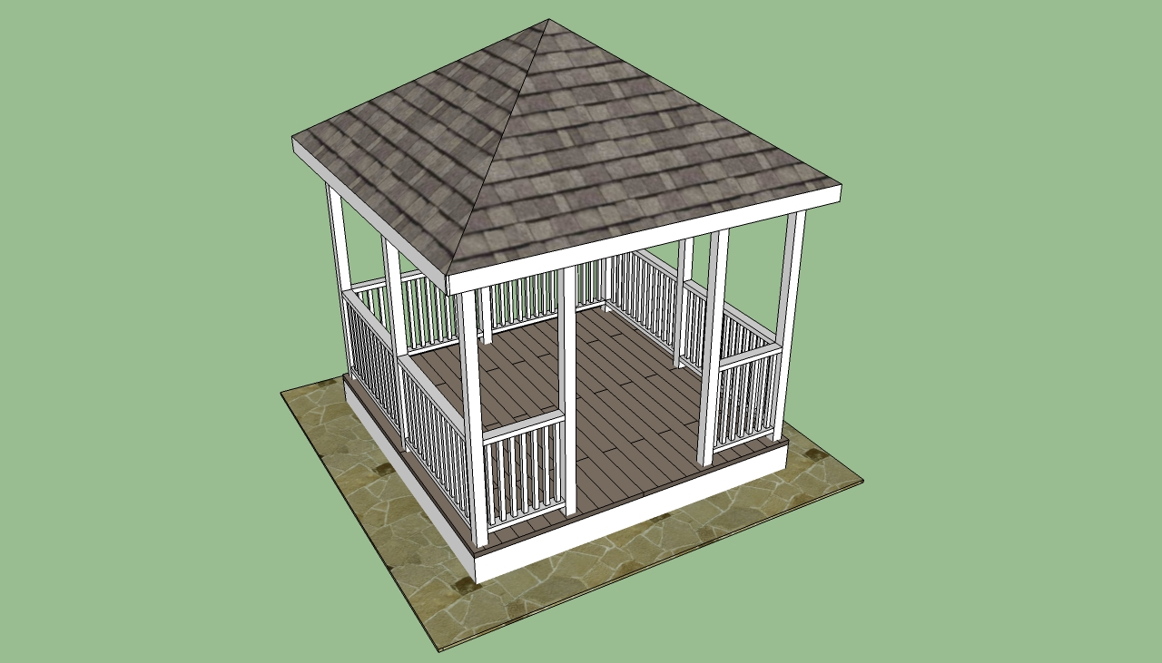 Square gazebo plans free diy free plans coop shed for Free playhouse plans