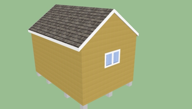 shed roof storage building plans