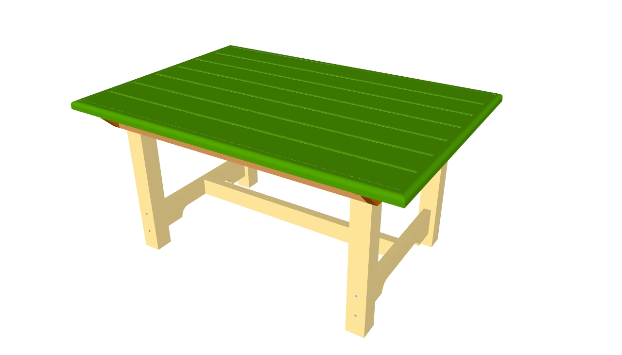 Pdf plans outdoor wooden table plans free for Table design plans