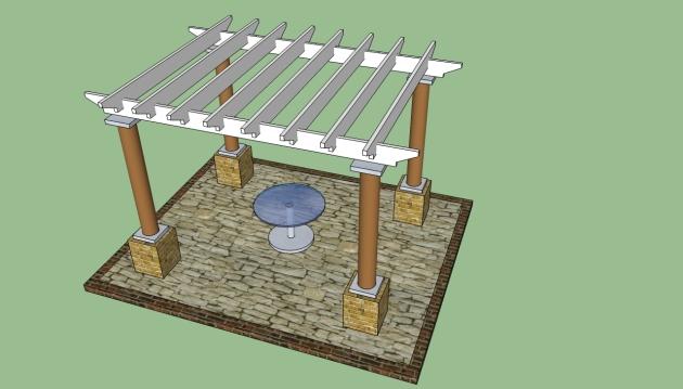 DIY Free Standing Pergola Plans Wooden PDF Cabinet Plywood