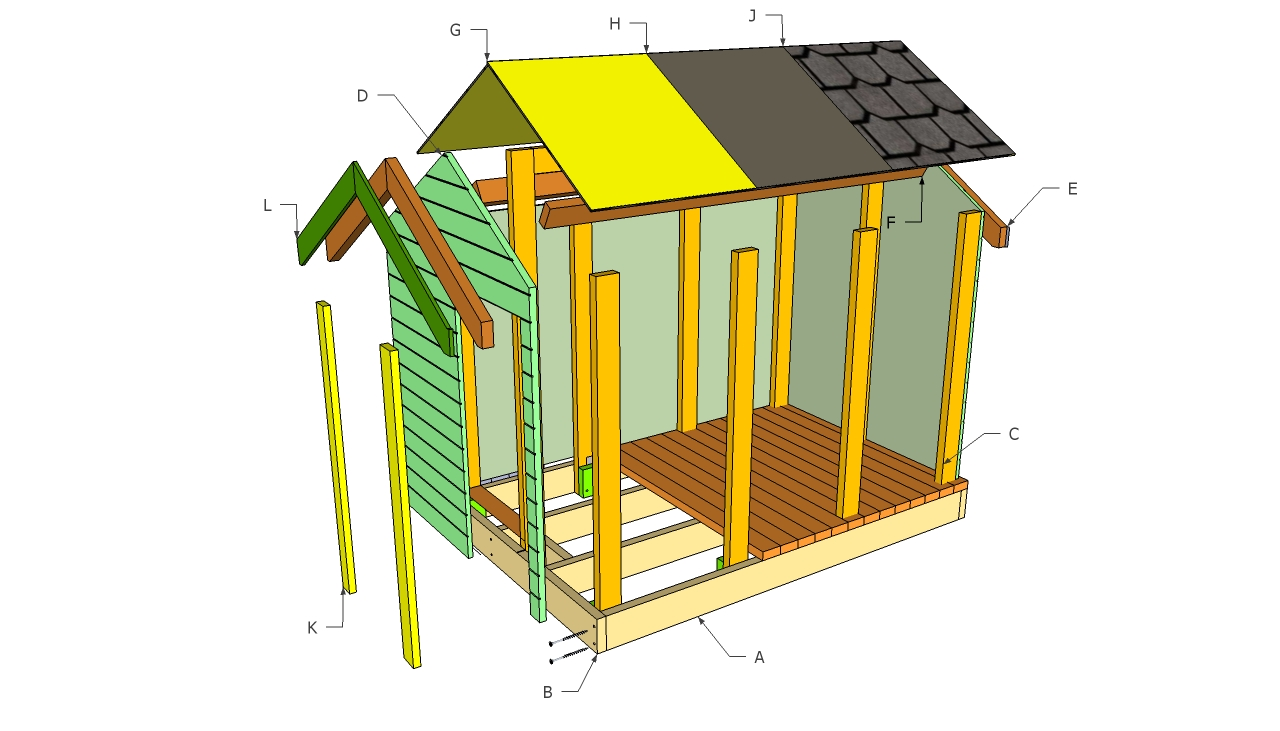 Simple playhouse diy woodideas for Simple outdoor playhouse plans