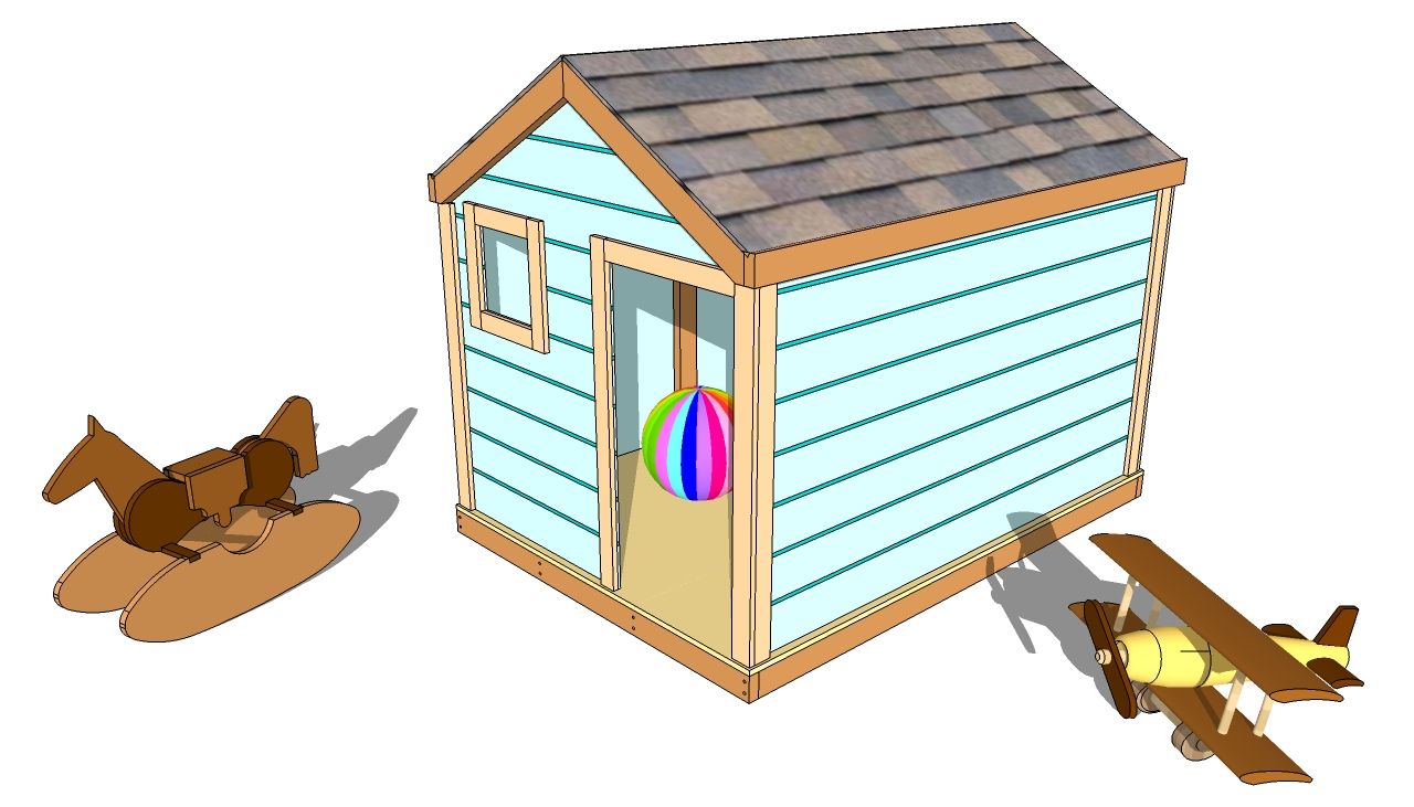 Outdoor playhouse plans free diy free plans coop shed for Free playhouse blueprints
