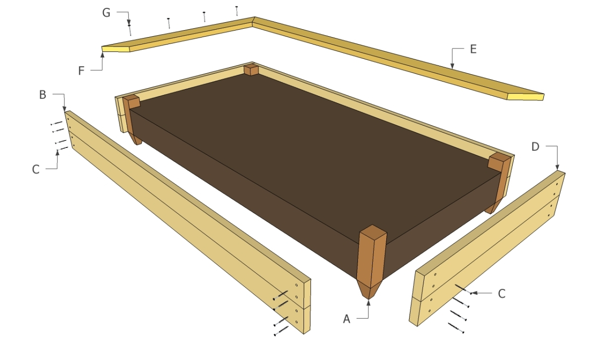 Raised bed components | DIY Free Plans - Coop, Shed, Playhouse
