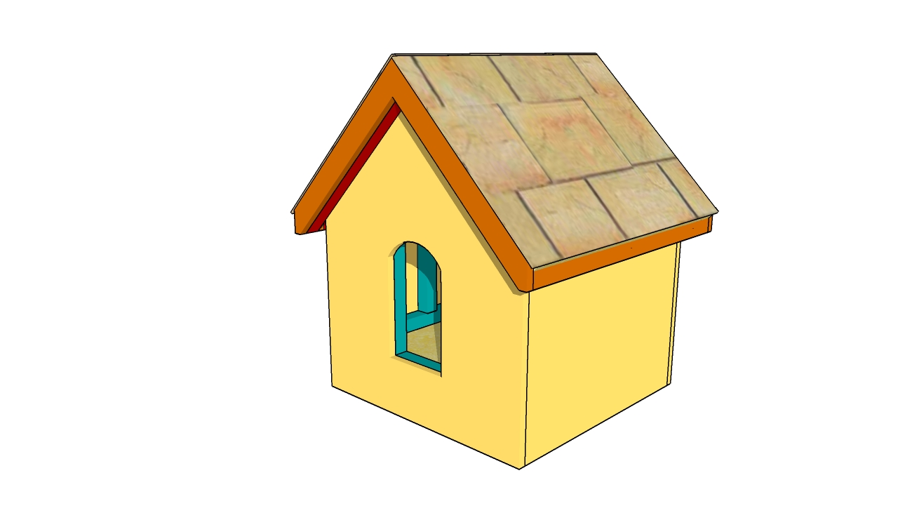 Small dog house plans diy free plans coop shed playhouse for Free playhouse plans