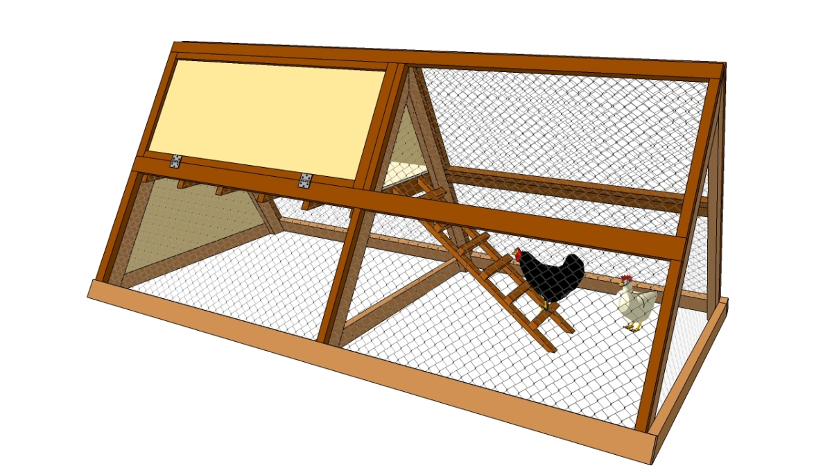 Small chicken coop plans free diy free plans coop A frame designs