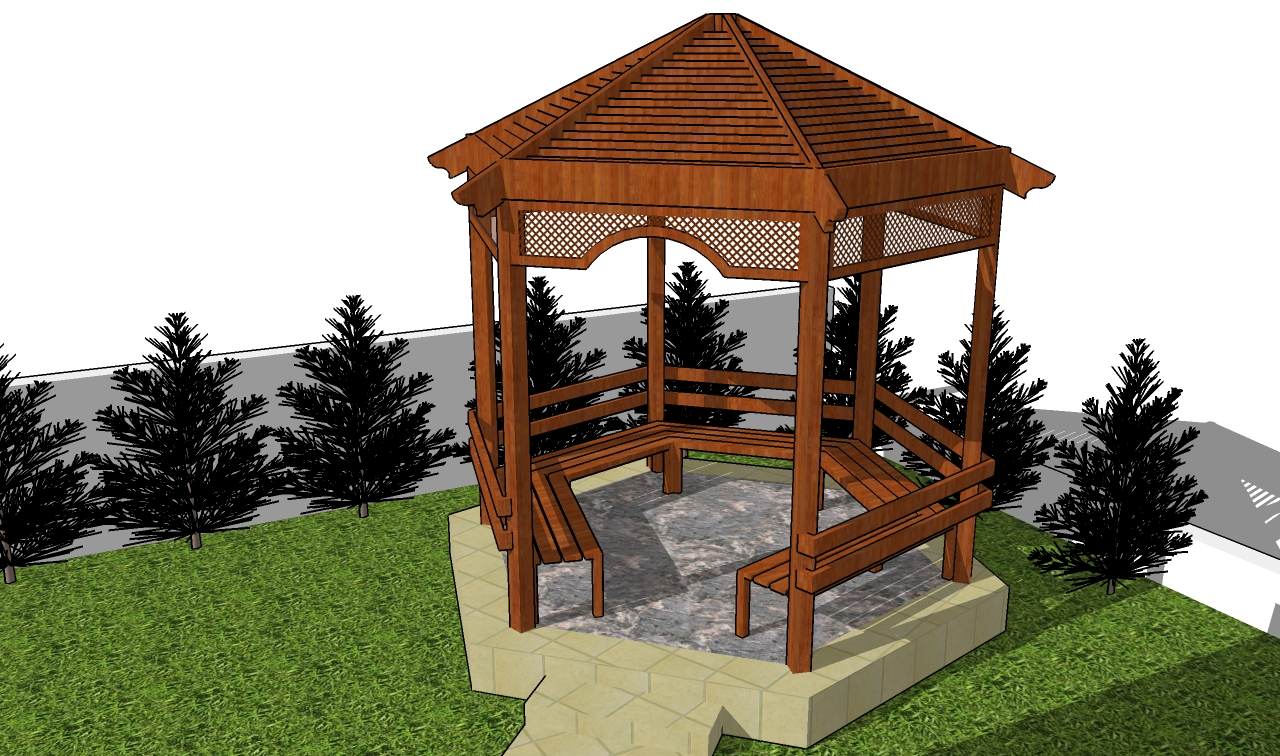 Woodwork woodworking plans gazebo pdf plans for Gazebo house plans